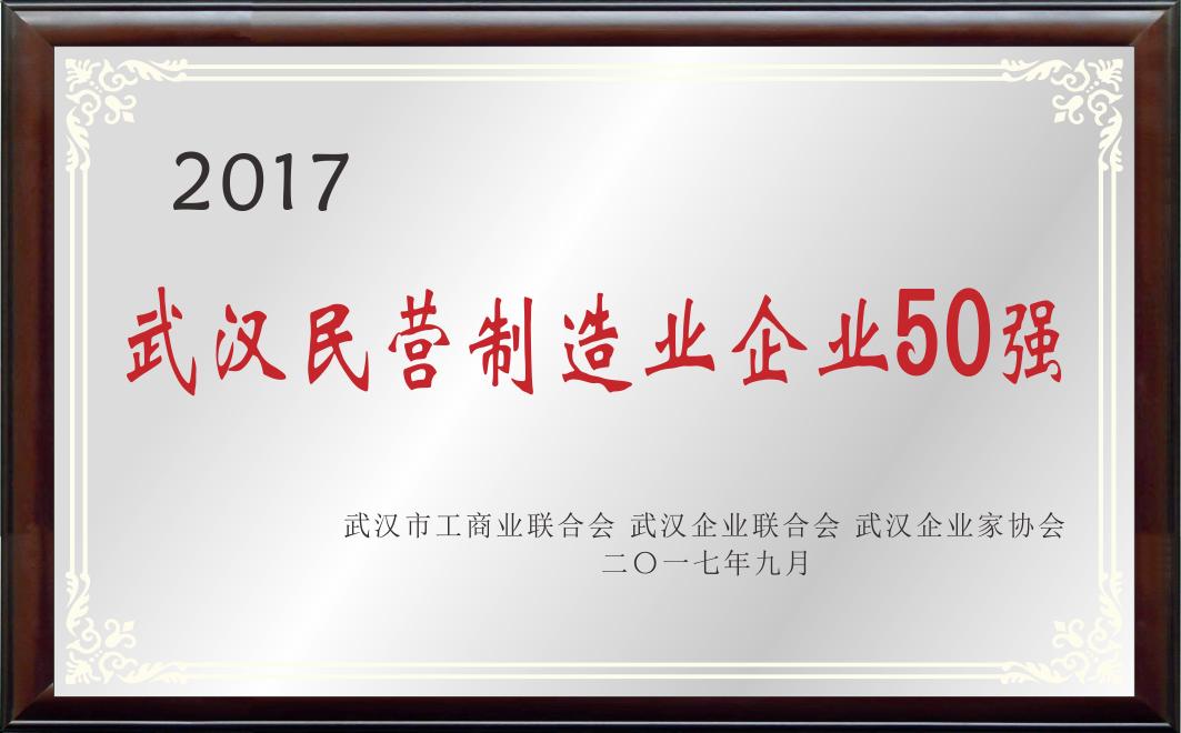 武汉民营制造业企业50强